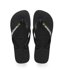 havaianas Brasil Logo Sandalen zwart